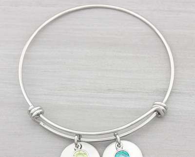 Personalized Bangle Bracelet You Are My Sunshine