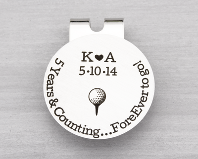 Years and Counting Golf Ball Marker with Hat Clip - Heartfelt Tokens
