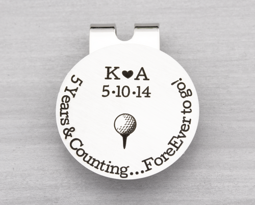 Years and Counting Golf Ball Marker with Hat Clip