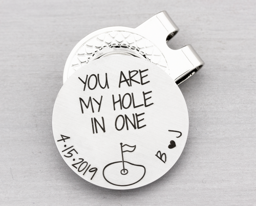 Personalized Golf Ball Marker with Hat Clip