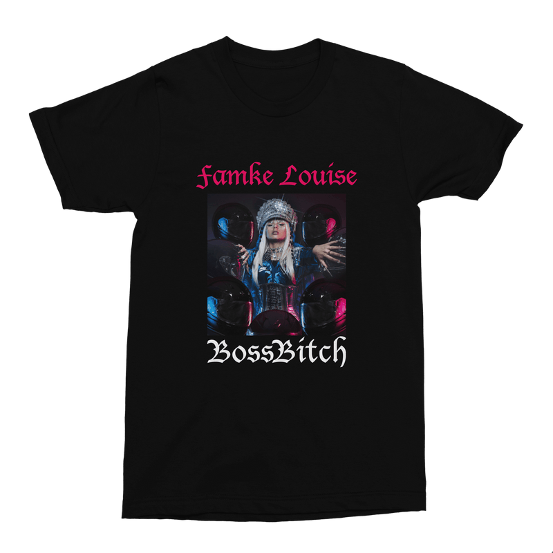 Boss Bitch T-shirt Kids <br>Black - Famke-Louise-Merchandise