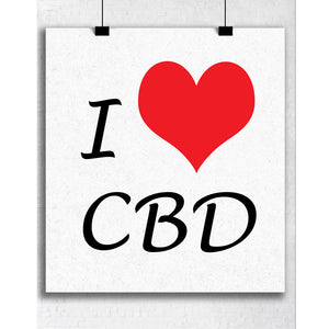 I Love CBD Image 8.5 x 11 Digital Download