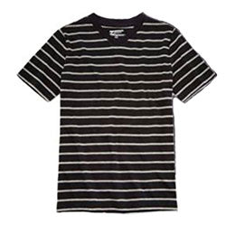 Little boys black and white striped t-shirt
