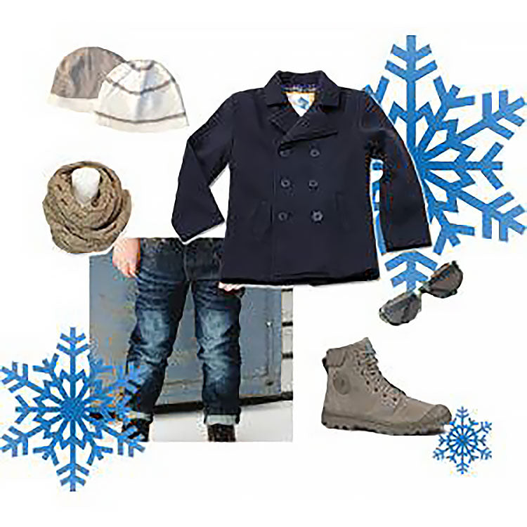 Boys Outfit Featuring a Peacoat by Wes & Willy