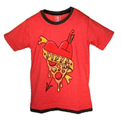 Boys Pizza Tee by Wes and Willy