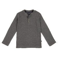 Boys Grey Henley Shirt