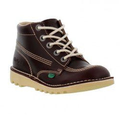 Boys Brown Leather Lace Up Boots