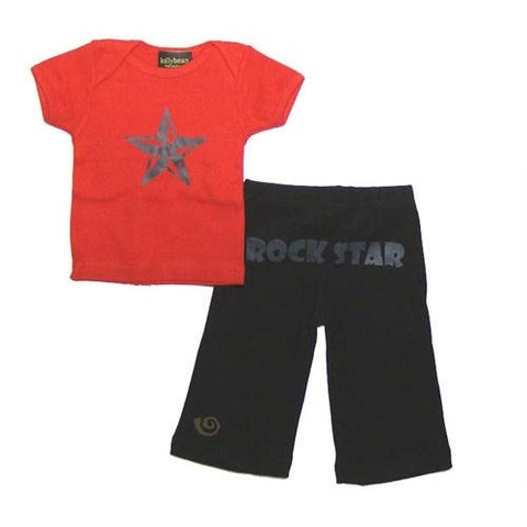 Baby Boys Rock Star Pant and Shirt Set by lollybean Kid Couture