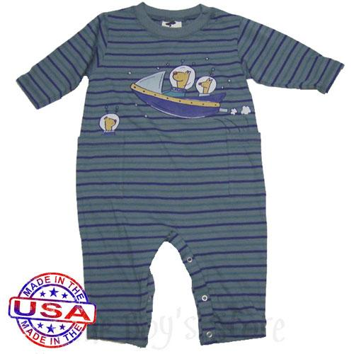Baby Boy Alien Coveralls by Mulberribush