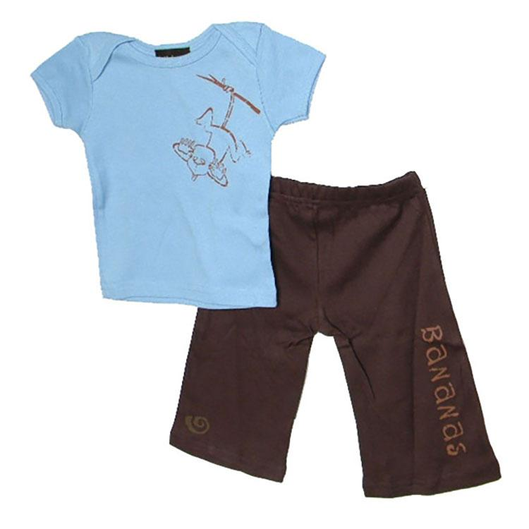 Baby Boy Bananas Pant and Shirt Set by lollybean Kid Couture - The Boy's Store