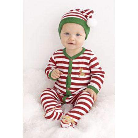 Baby Boys Striped Hat by le top