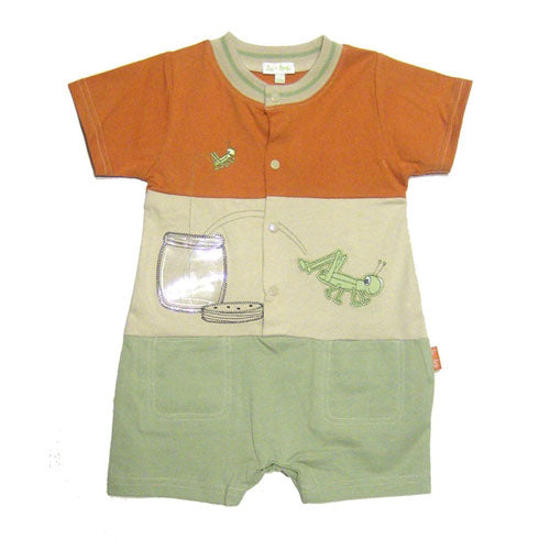 Baby Boys' Tri-Color Grasshopper Shortall by le top