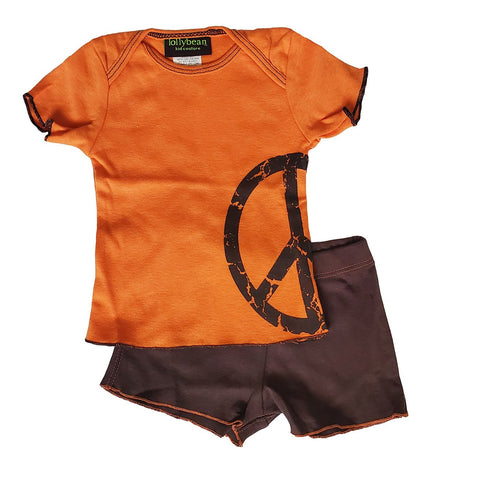 Baby Boy's Peace Short Set by lollybean Kid Couture