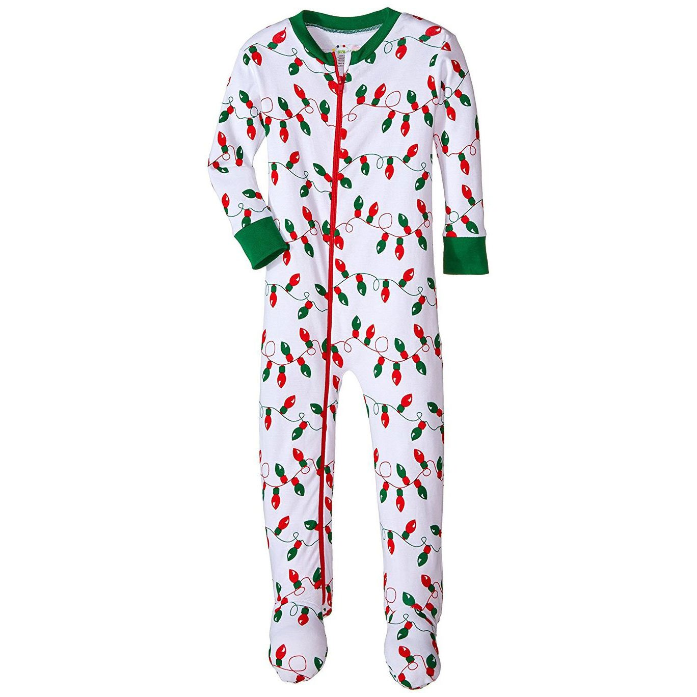 Baby Boys Footie Christmas Lights Pajamas by New Jammies