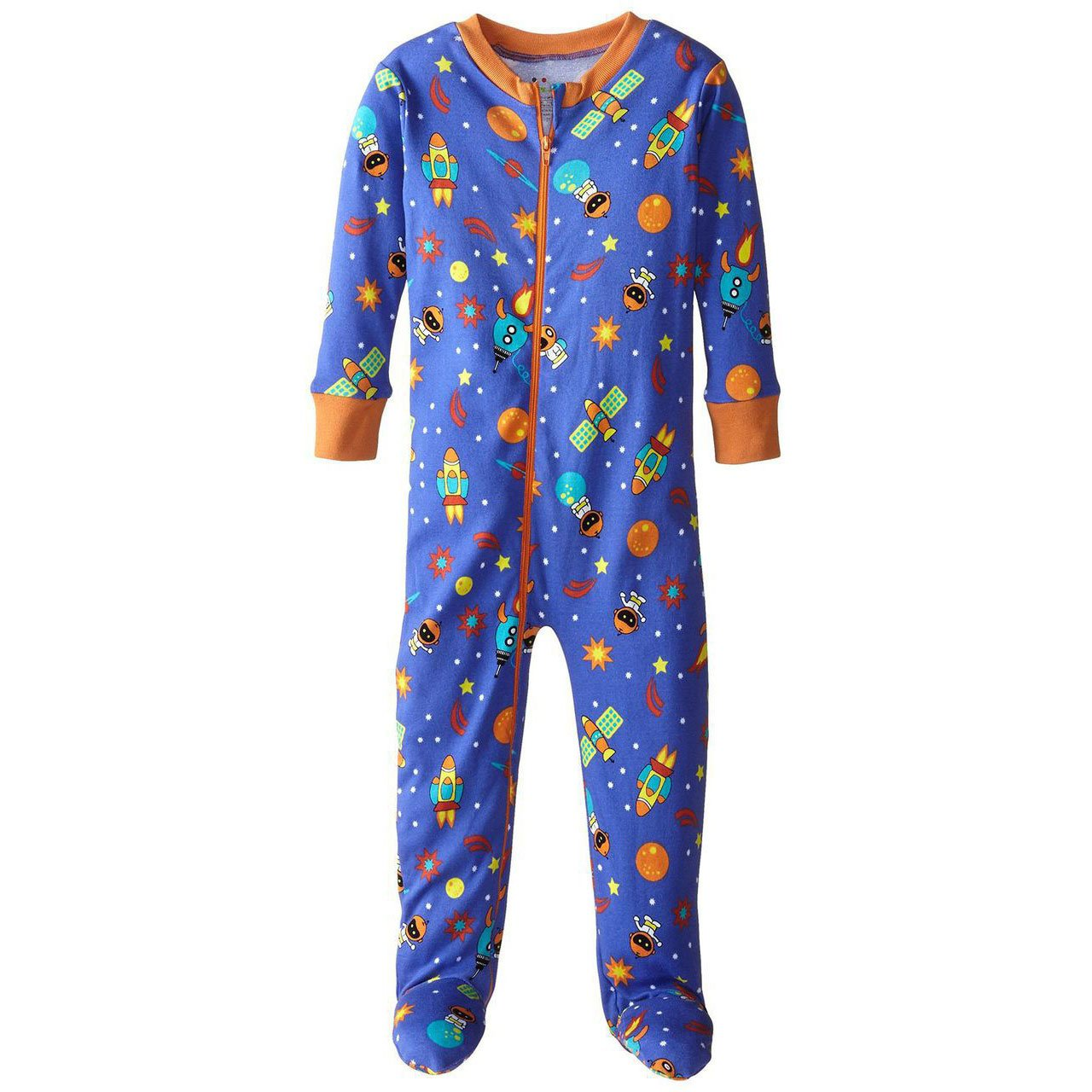 Baby Boys Space Themed Organic Footed Pajamas by New Jammies