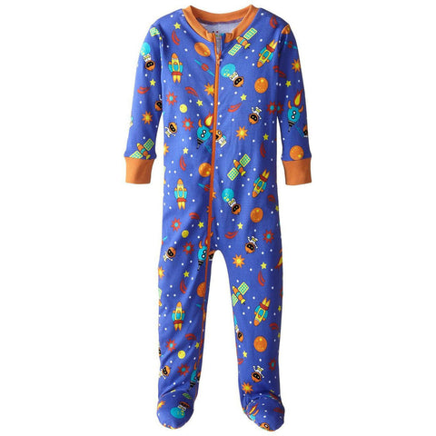 Baby Boys Space Themed Organic Footed Pajamas by New Jammies - The Boy's Store