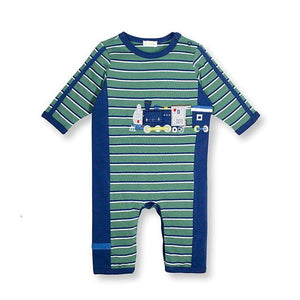 Baby Boys On Track Train Coverall by le top