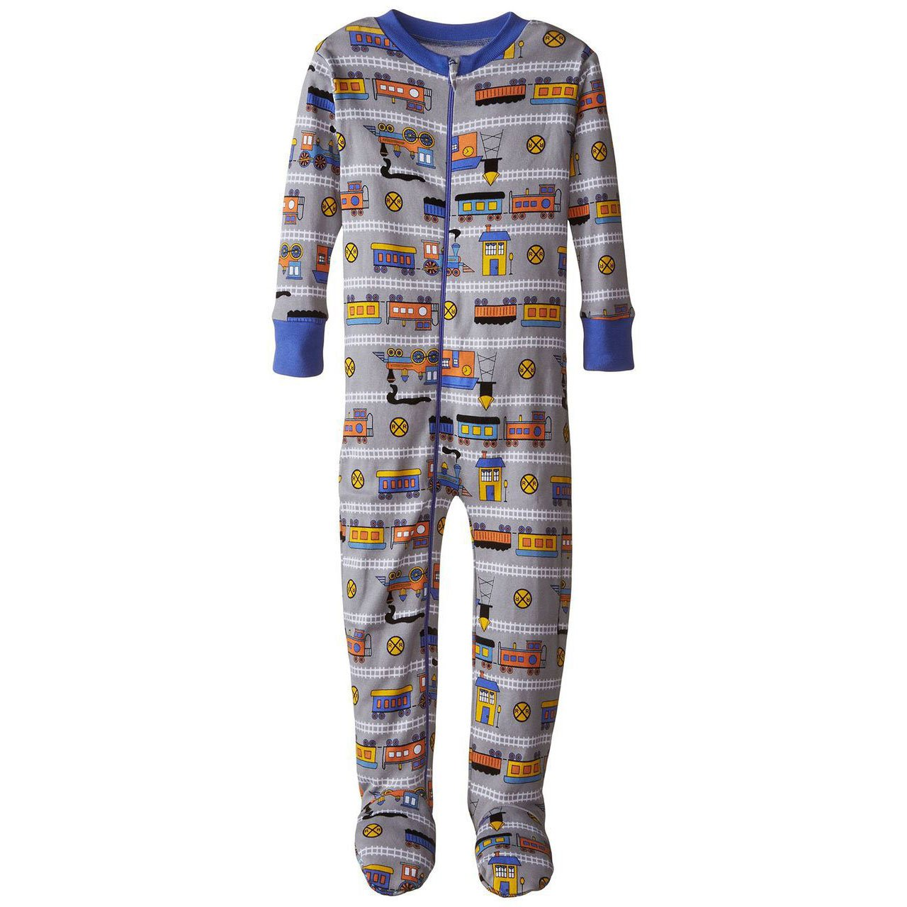 Baby Boys Train Organic Footed PJs by New Jammies - The Boy's Store