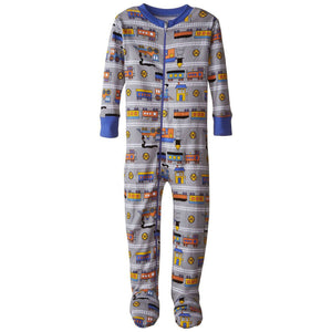 Baby Boys Train Organic Footed PJs by New Jammies