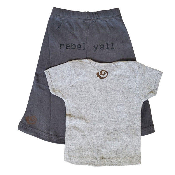 Baby Boy Rebel Yell Pant and Shirt Set by LollyBean