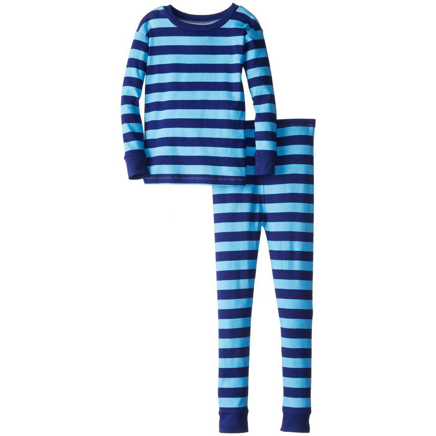 Boys Blue on Blue Stripe Pajamas by New Jammies