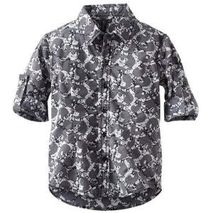 Boys' All Over Print Button Up Shirt by Smash