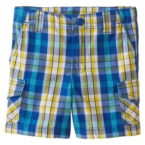 Boys' Plaid Shorts by Kitestrings