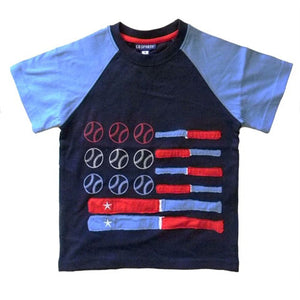 Boys Baseball American Flag Shirt by CR Sport