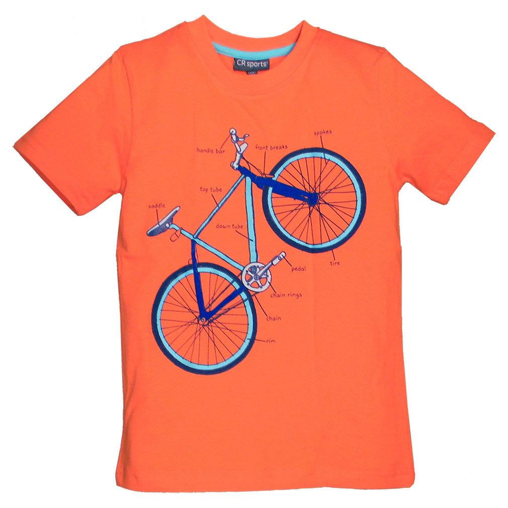 Boys Bicycle Parts Shirt by CR Sports