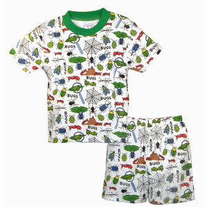 Boys Bugs, Bugs, Bugs Short Pajama Set by Sara's Prints