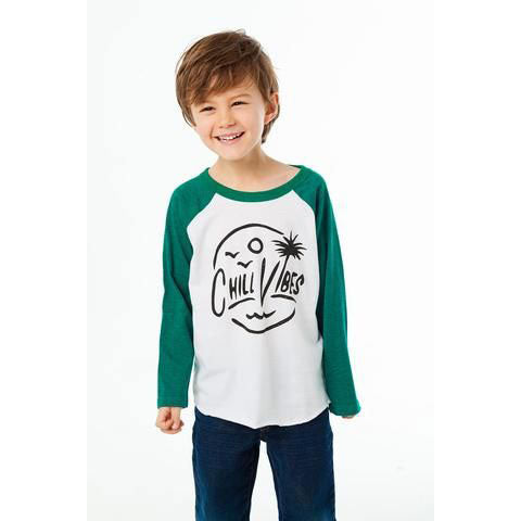 Boys Chill Vibes Raglan Tee by Chaser