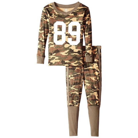 Boys Football Style Camouflage Pajama Set by Wes and Willy