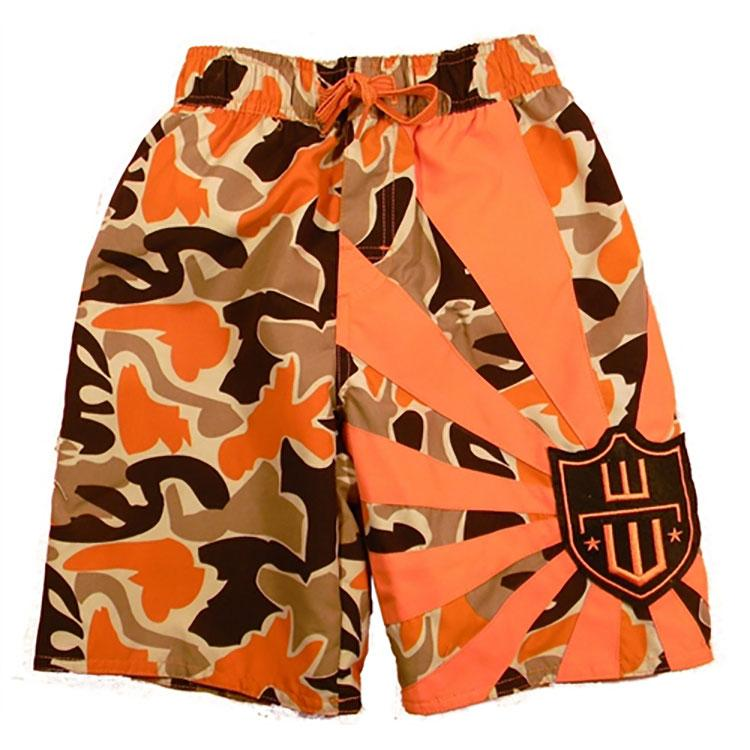 Boys Camo Logo Swim Trunks by Wes and Willy - The Boy's Store