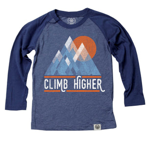 Boys' Climb Higher Raglan Tee by Wes and Willy