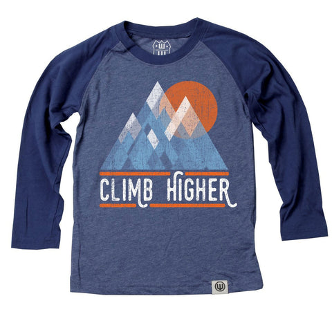 Boys' Climb Higher Raglan Tee by Wes and Willy - The Boy's Store