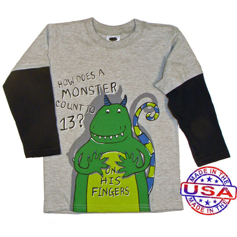 Boys' Counting Monster Two in One Shirt by Mulberribush