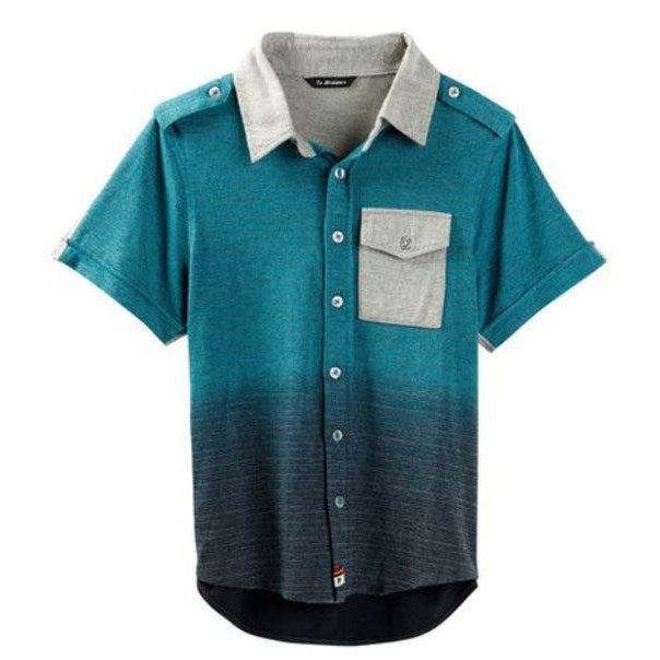 Boys Dip Dye Polo Shirt by La Miniatura