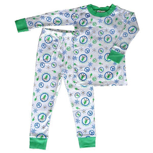 Toddler Boys Ever-Green Peace Pajama Set - The Boy's Store