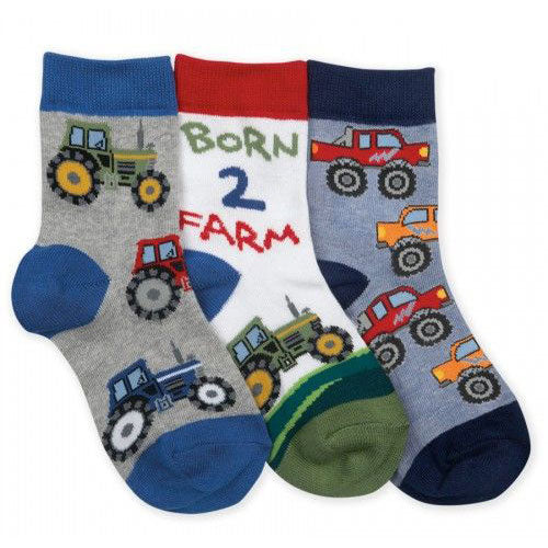 Boys Born to Farm Crew Socks by Jefferies Socks