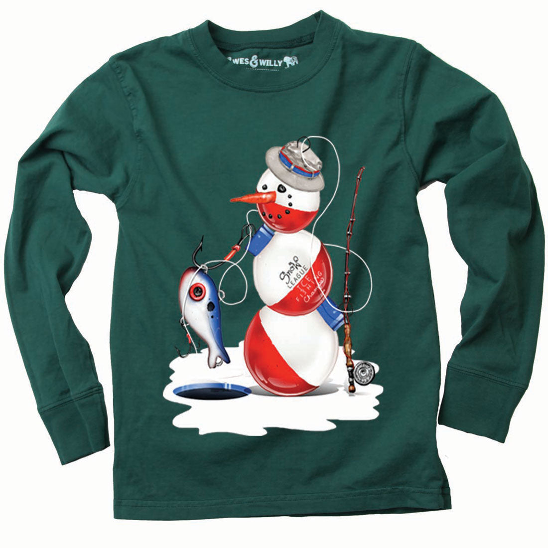 Boys Bobber Snowman Shirt by Wes and Willy