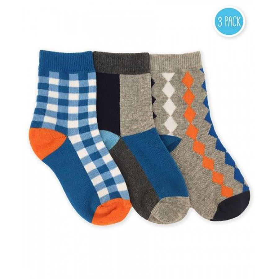 Boys Gingham Plaid Crew Socks by Jefferies Socks - The Boy's Store