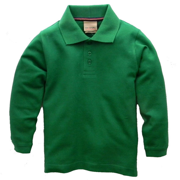 Boys' Long Sleeve Pique Polo Shirt by CR Sport