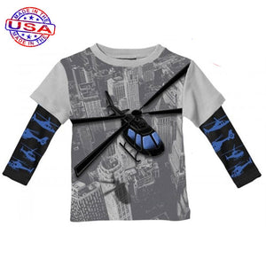 Boys' Helicopter Twofer by City Threads