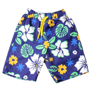 Boys' Hibiscus Swim Trunks by Wes and Willy
