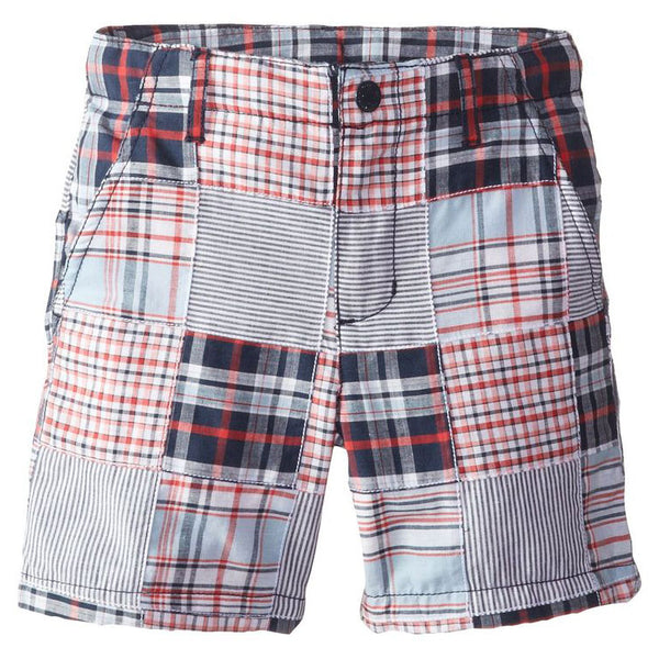 Boys' Plaid Patchwork Shorts by Kitestrings