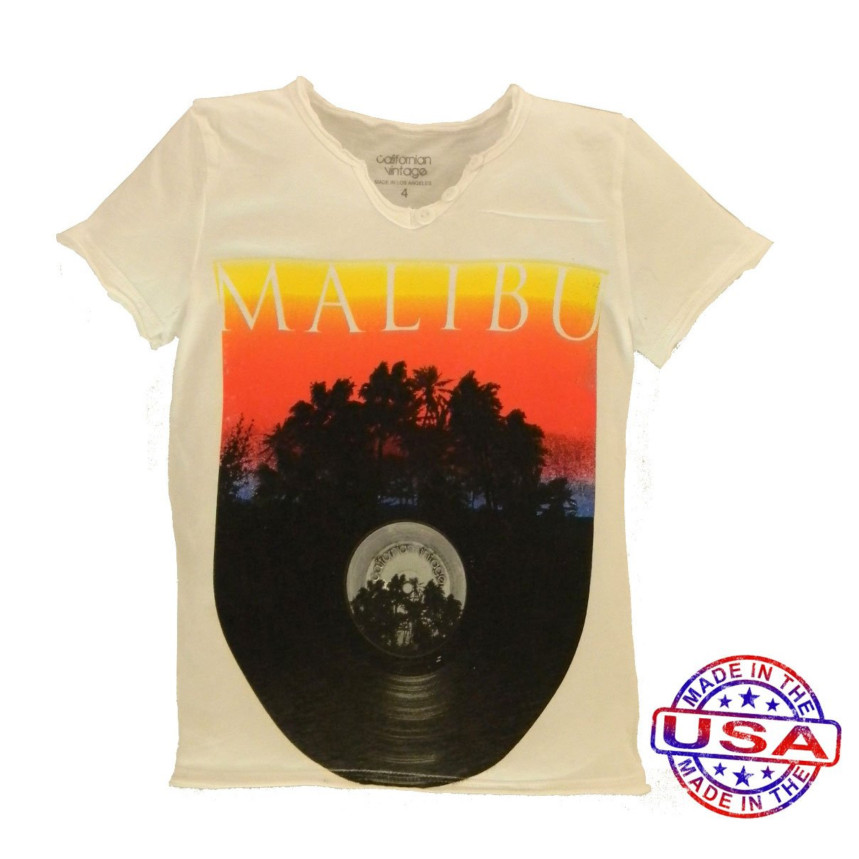 Boys' Malibu Record Shirt by Californian Vintage