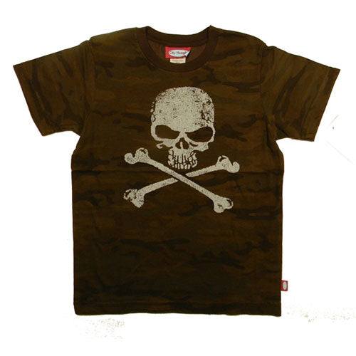 Boys' Mean Skull Camo Shirt by City Threads