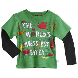 "Boys' ""World's Messiest Eater "" Two in One Shirt by City Threads"