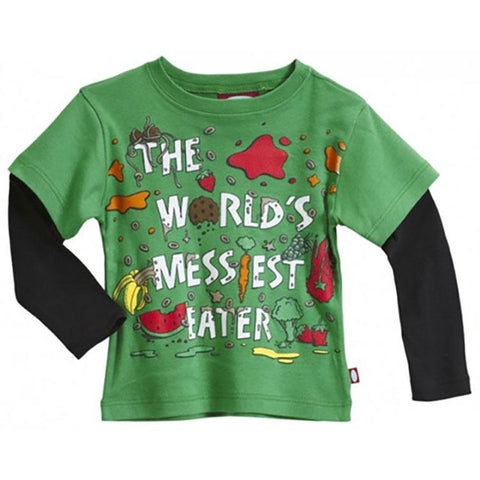"Boys' ""World's Messiest Eater "" Two in One Shirt by City Threads - The Boy's Store"