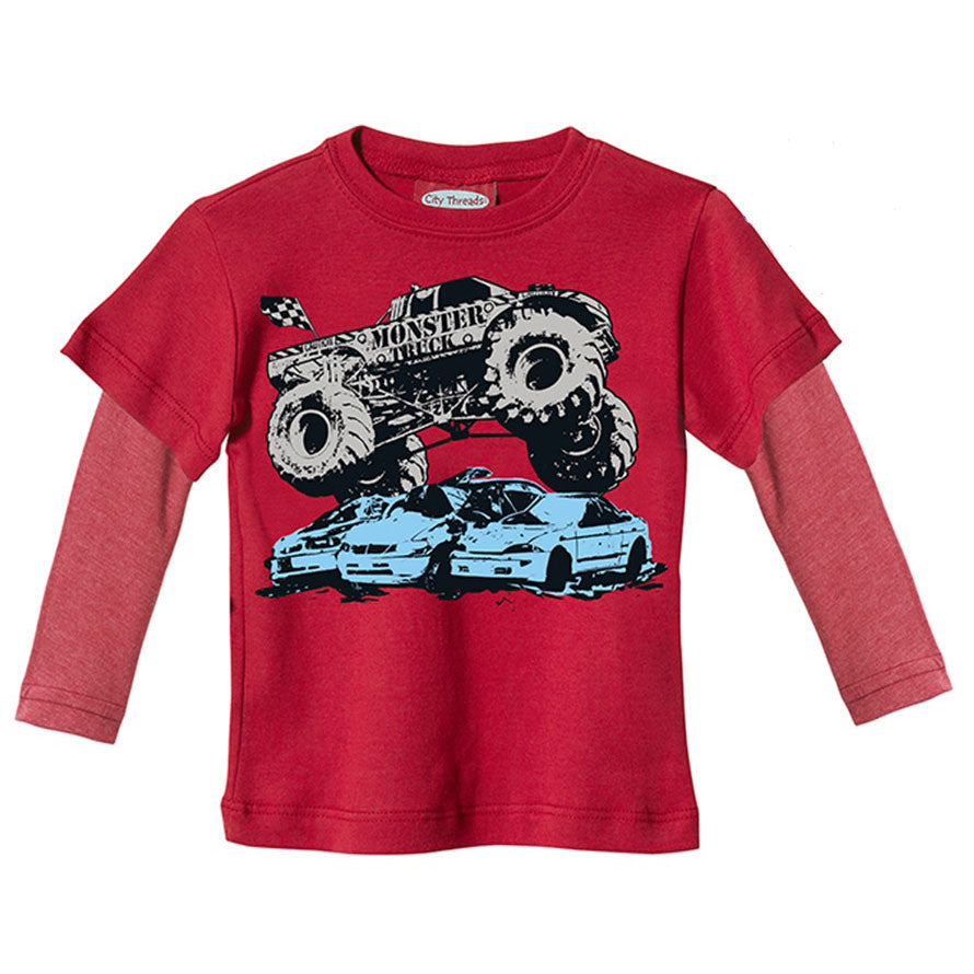 Boys Monster Truck Twofer by City Threads